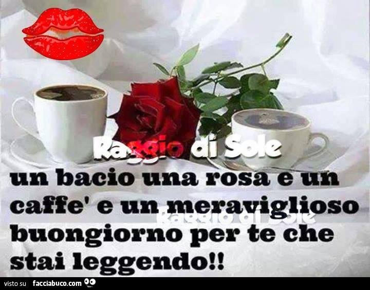 Risultati immagini per buongiorno un bacio caffè