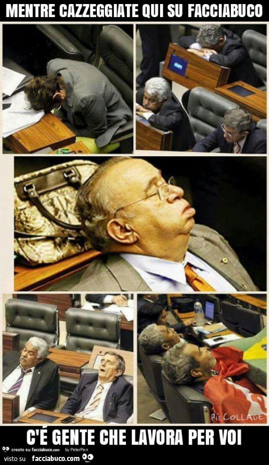 Senatori e deputati mentre cazzeggiate qui su facciabuco for Senatori e deputati