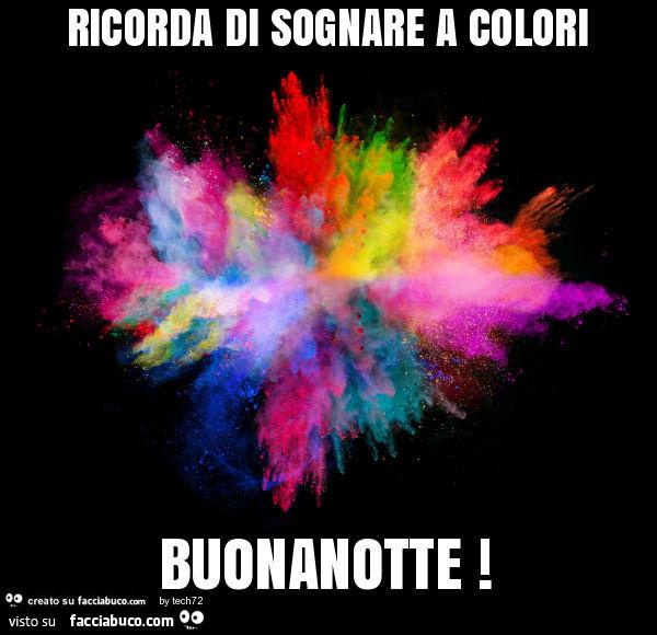 Ricorda di sognare a colori buonanotte - Immagine di lucertola a colori ...